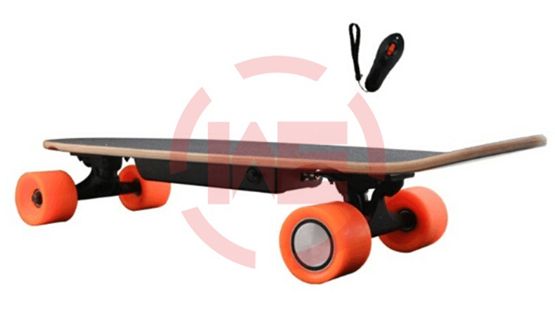 Electric Skateboard with Single Wheel