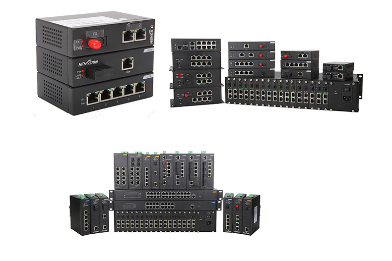 Industrial Ethernet Network Switch with 2 Gigabit SFP