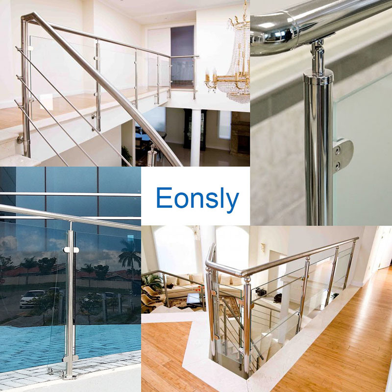 Stainless Steel Square Type Glass Railing System