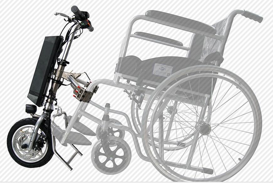 12 Inch Electric Attachable Wheelchair Handcycle Motor Kit