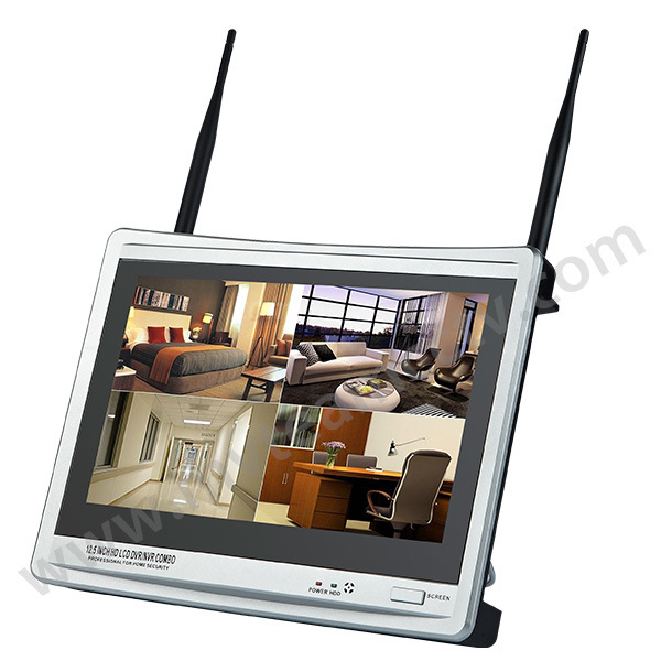 "12.5"" Inch Screen 4CH NVR Wireless Camera and Monitor Kit"