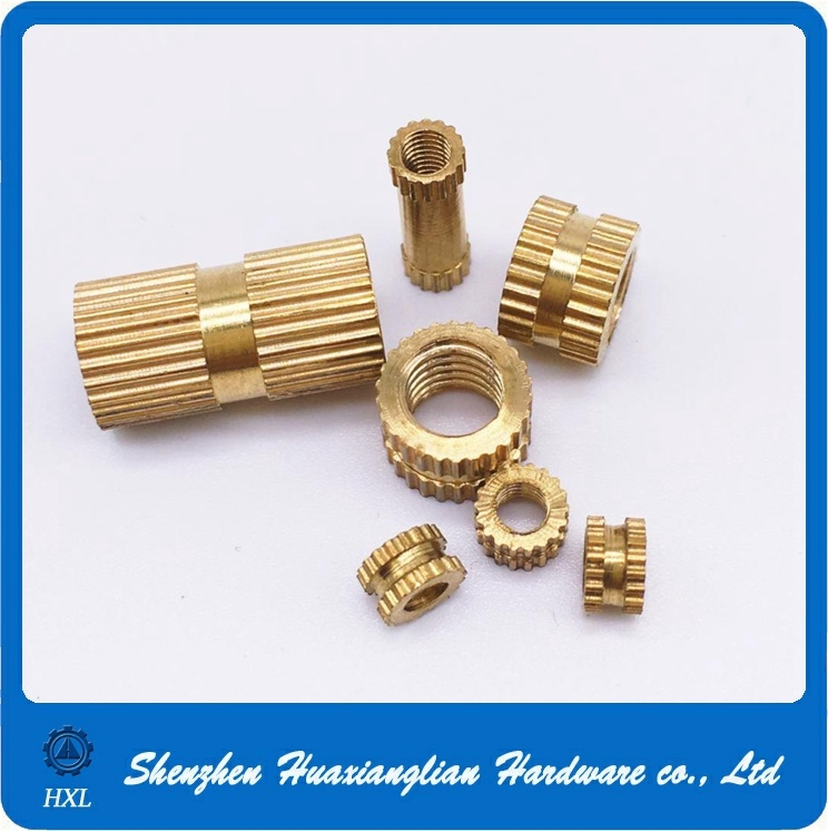 Brass Knurled End Wood Insert Nut for Furniture