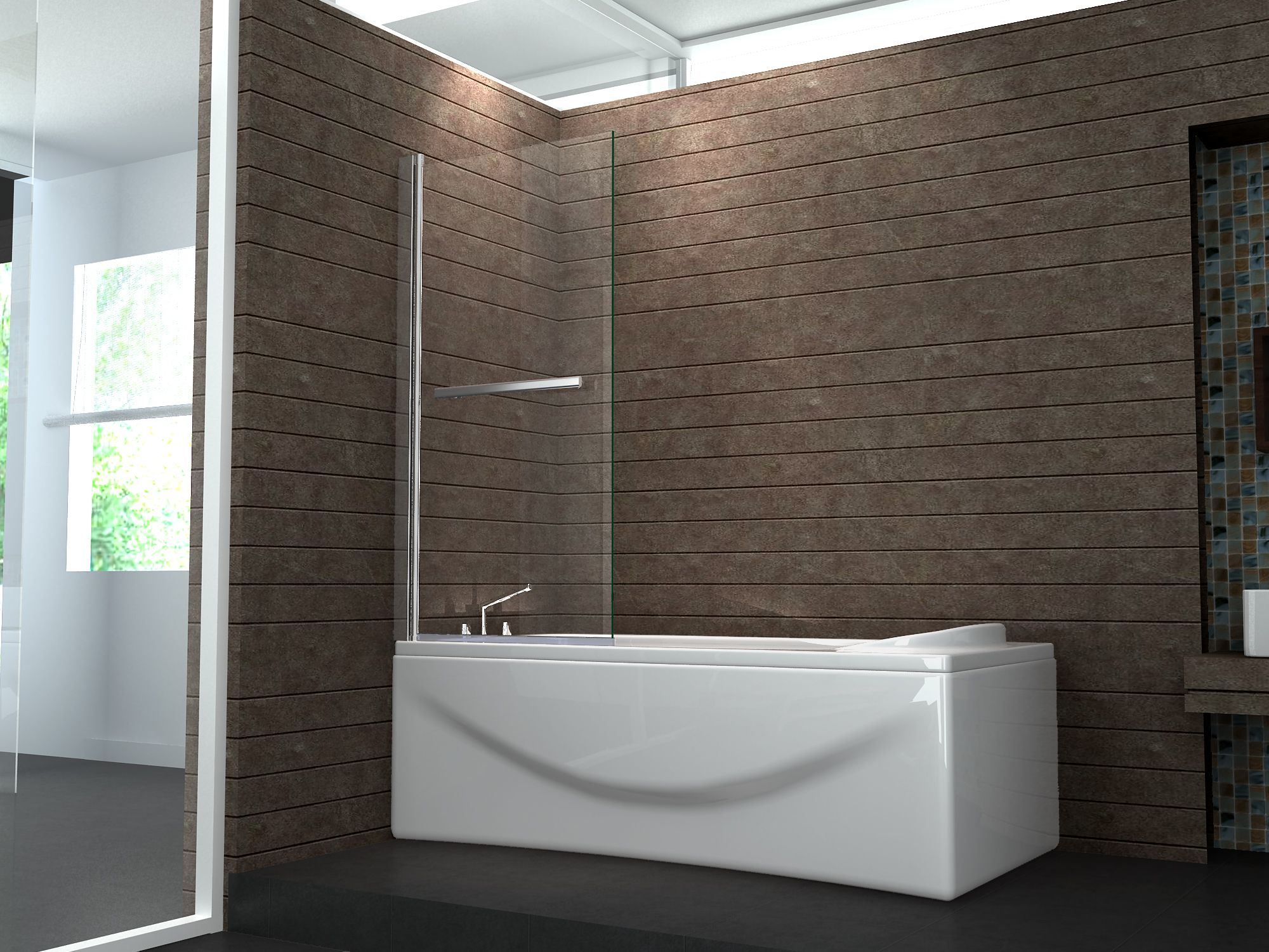 China Low Price Shower Glass Swing Bath Screen for Sale