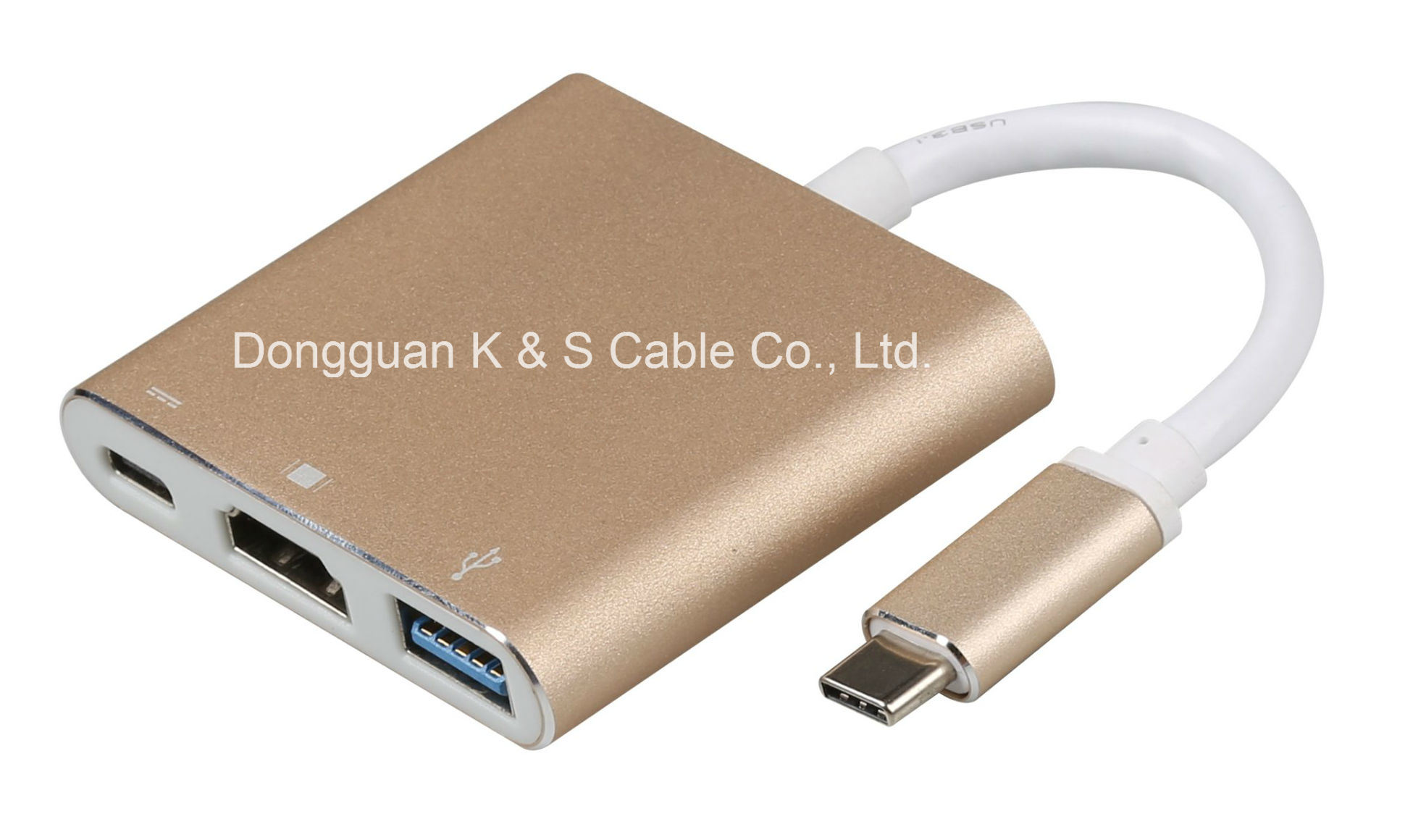 USB3.1 C to USB 3.0 + HDMI + Type C Adapter