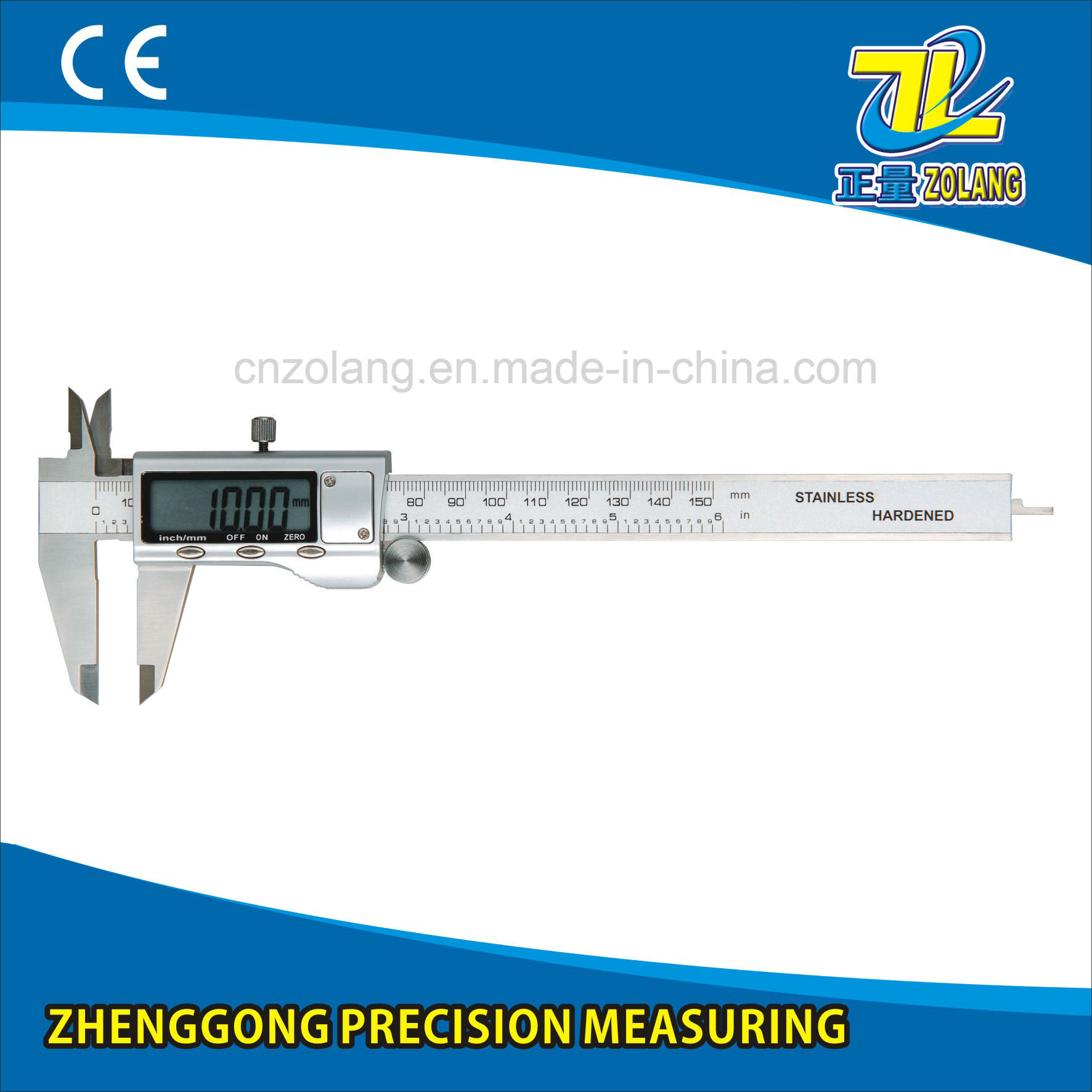 "0-150mm/0-6""Industrial-Grade Stainless Steel Digital Display Calipers Measuring Tool"