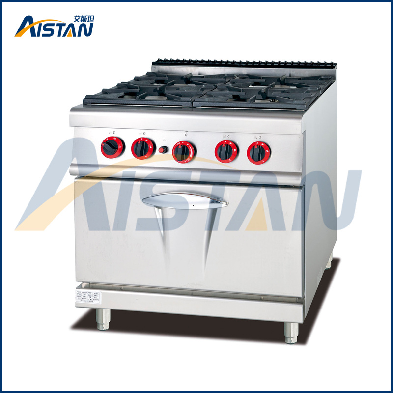 Gh987A 4-Burner with Gas Oven of Catering Equipment