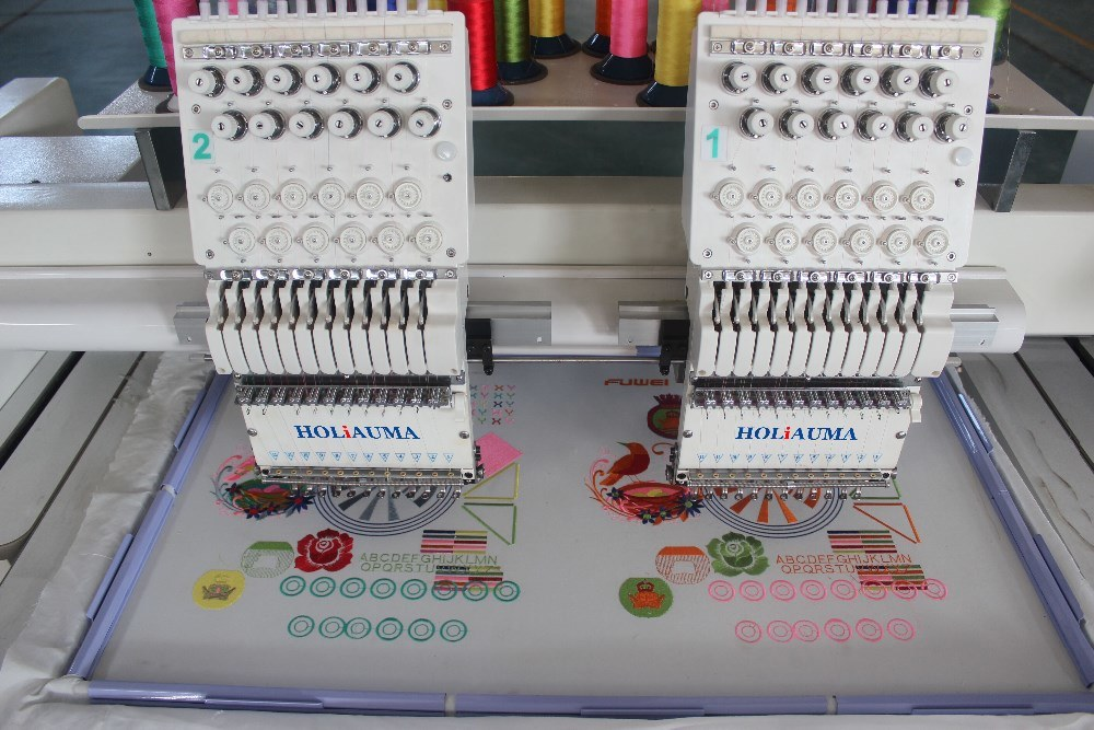 Cheap Price Tajima Type 2 Head Embroidery Machine for Cap Flat T-Shirt Shoes Embroidery China Industrial Sewing Machine Brother Software Sale Two Head Double
