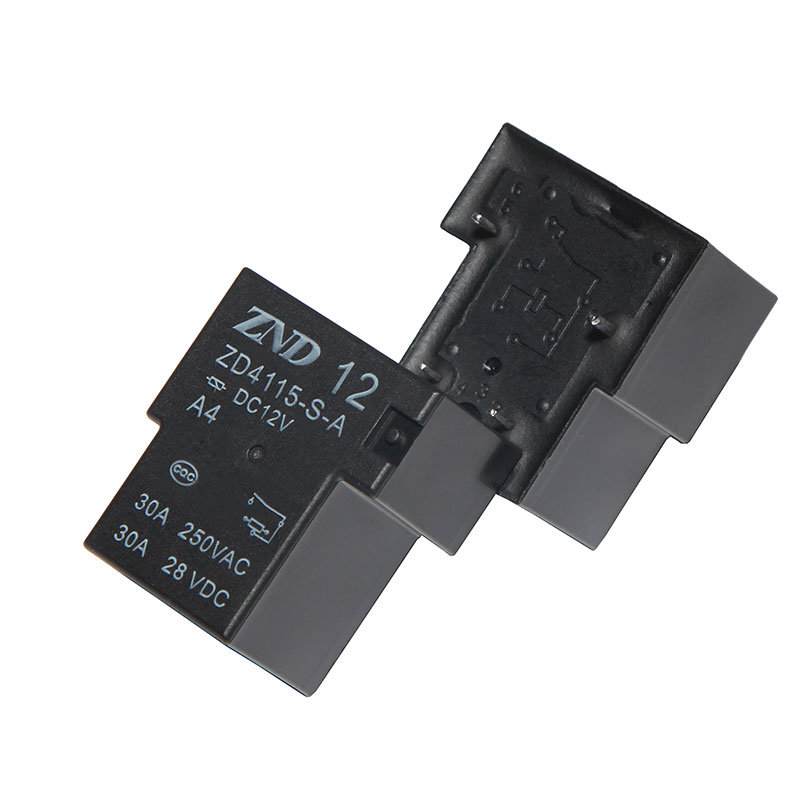 Zd4115 (T90) Power Relay for Industrial 30A 4pin Silver Contact 12V 30A Contact Switch
