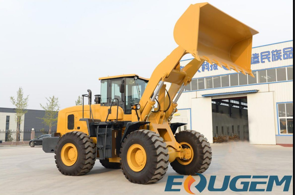 Heavy Construction Equipment Wheel Loader with Rock Bucket (6ton zl60)