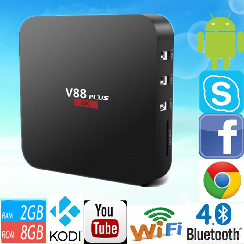 2016 Full HD 1080P Video Android 5.1 V88 Plus