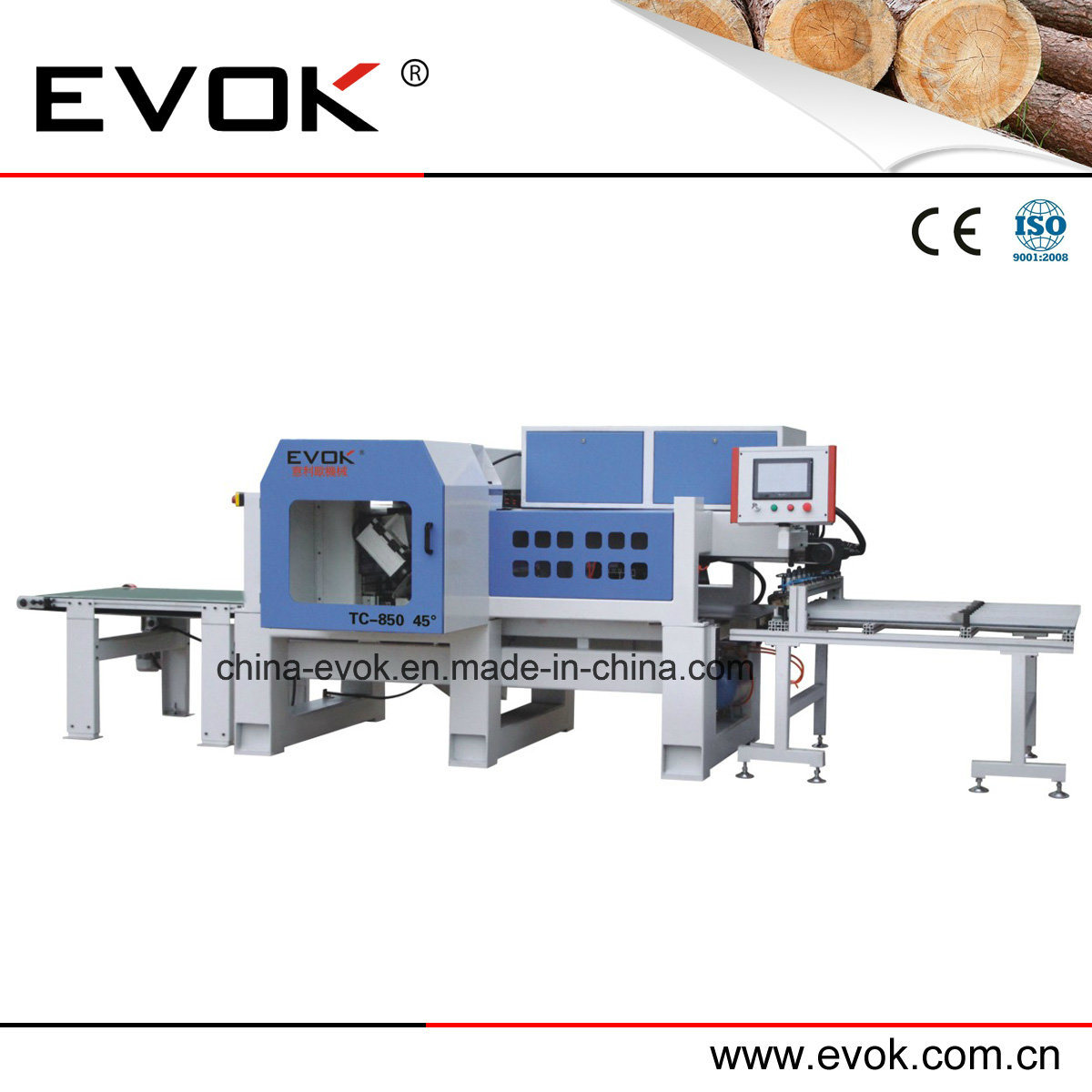 CNC High Speed Auatomatic Woodworking Dual Saw Cutting Machine Tc-850