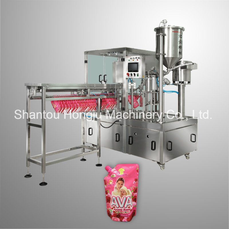 2000 Ml Side Spouted Pouch Filling Machine for Washing Liquid