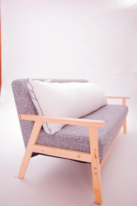 White Color Home Lumbar Body Pillow