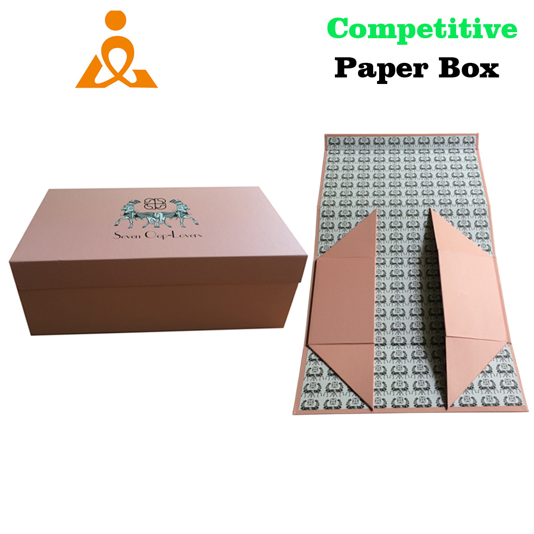 Luxury Flat Unfold Paper Gift Packaging Box with Magnet