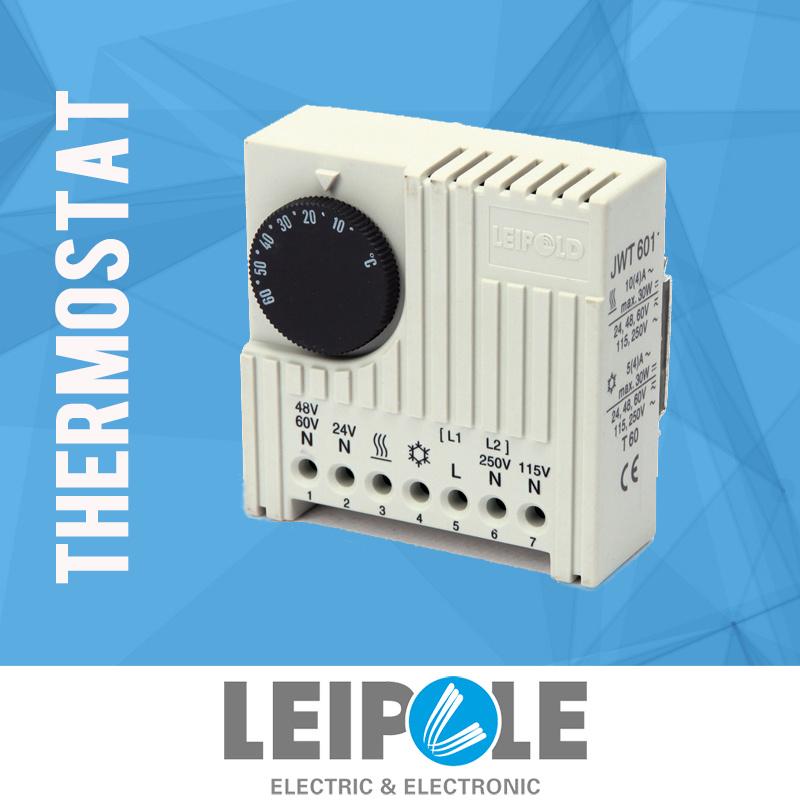 China Top Selling Jwt6011 Bi-Metal Cabinet Enclosure Panel Thermostat