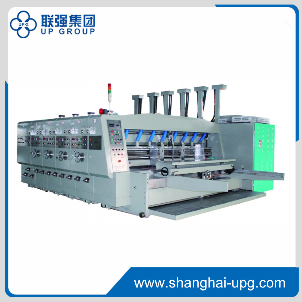 Qyk-1200 (2500*1200) Automatic Lead Edge Feeder Flexo Printing Slotting Die-Cutting and Stacking Machine