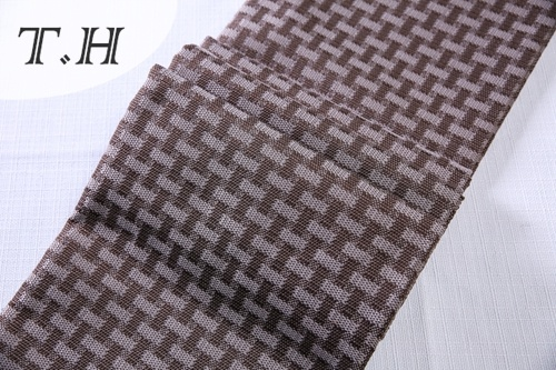 Weaving Knit Grid Linen Fabric with a&B Series (FTD31053AB)