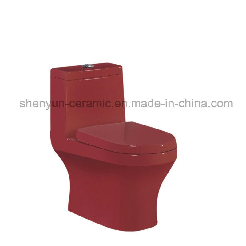 Ceramic Toilet One-Piece Color Toilet S-Trap (A-022)