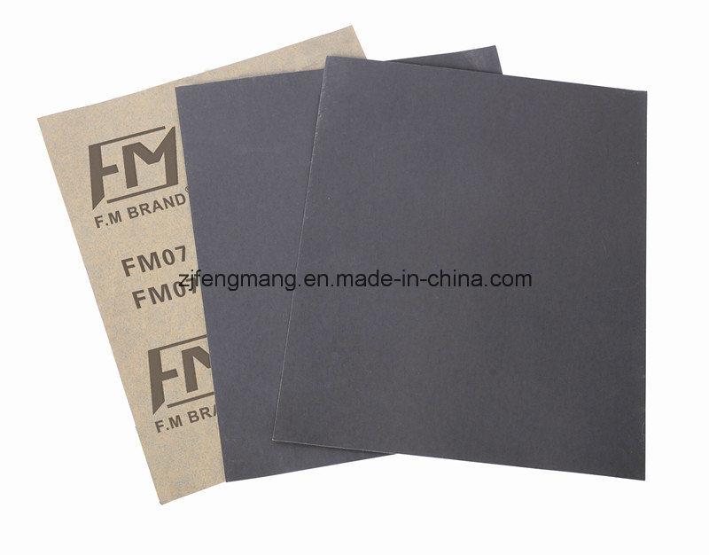 Waterproof Craft Paper Aluminum Oxide Abrasive Paper/Sandpaper FM07