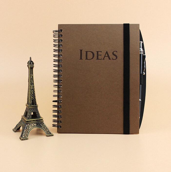 Debossed Idea Hardcover Spiral Notebook