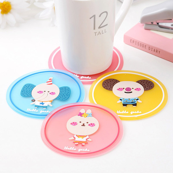 Carton Tableware Insulated Mat Silicone coffee Cup Mat