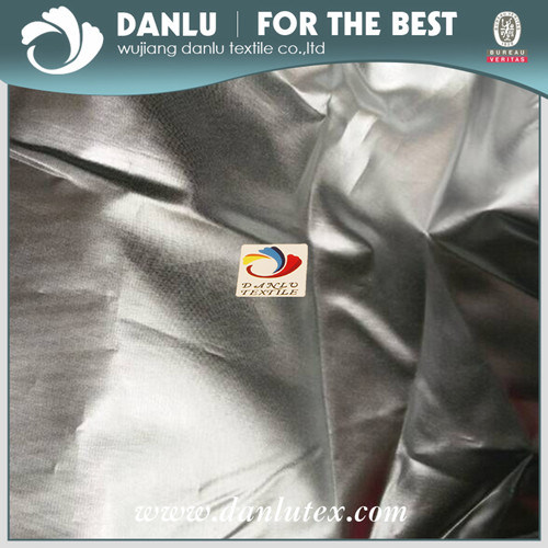 190t Silver Reflective Fabric with Silver Coated Fabric