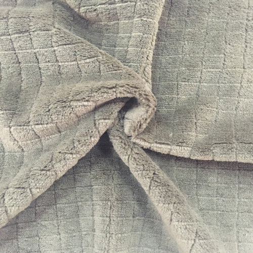 100% Polyester Grid 2 Jacquard Flannel Fleece