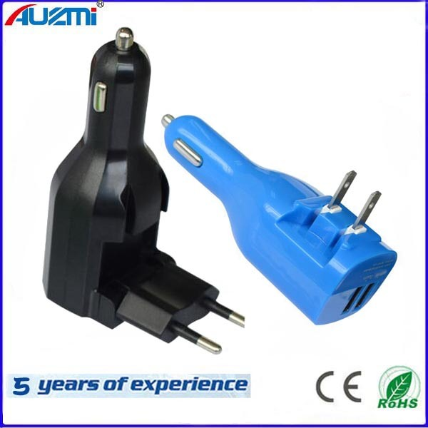 2in1 Universal USB Home Charger and USB Car Charger