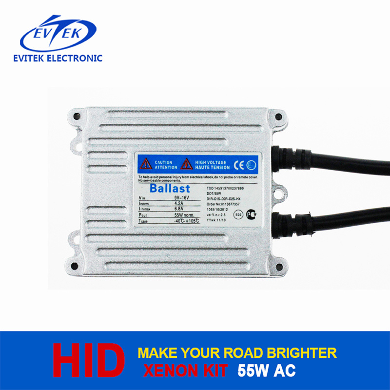 High Quality 55W 12V Xenon Slim Ballast AC HID Headlight