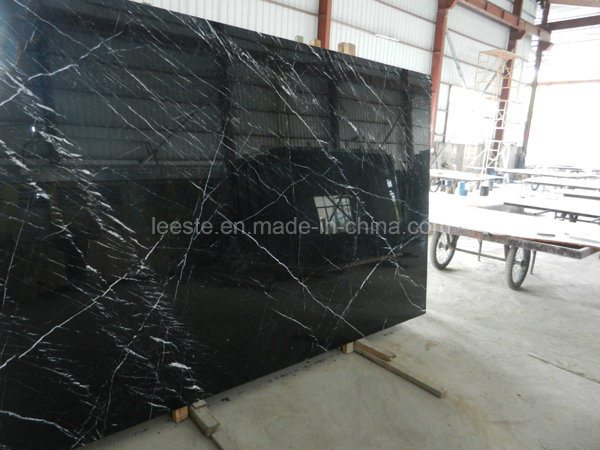 Natural Polished Stone Black Marble for Wall and Floor