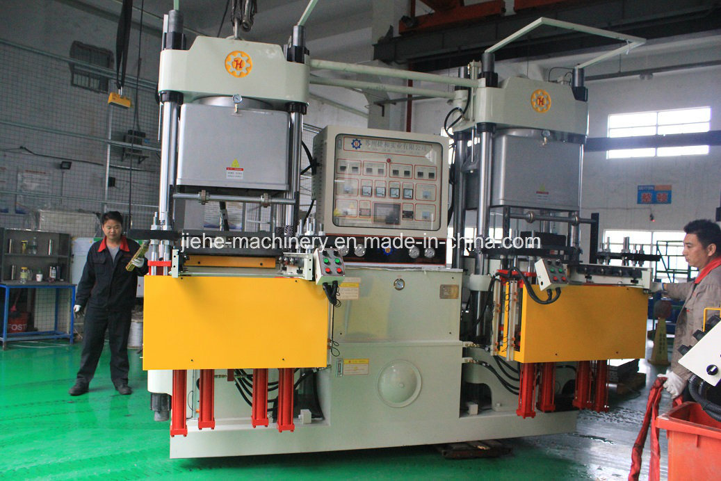 300t Rubber Silicone Heating Platen Curing Machine with Vacuum Pump Made in China