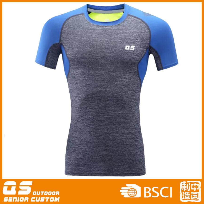 Men′s Running Melange Quick Dry T-Shirt
