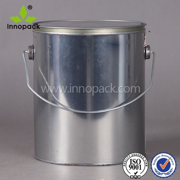 1 gallon paint round metal white small tin can