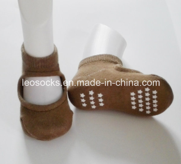 Bulk Wholesale Instep Hole Non Slip Baby Cotton Socks