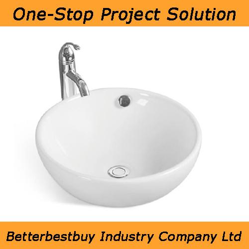 Round Shape Ceramic Wash Basin