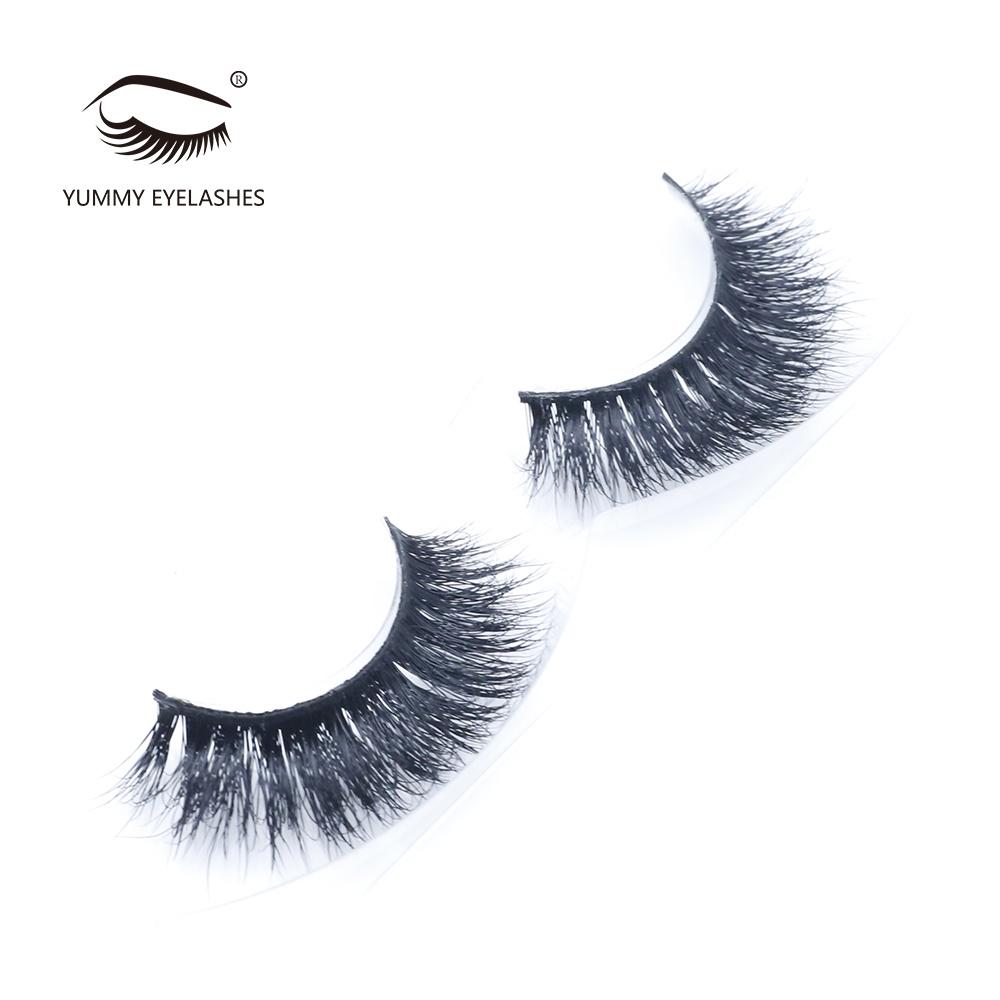 Makeup Premium Handmade Natural Real Mink Fur Eyelash Lash Extensions Wholesale