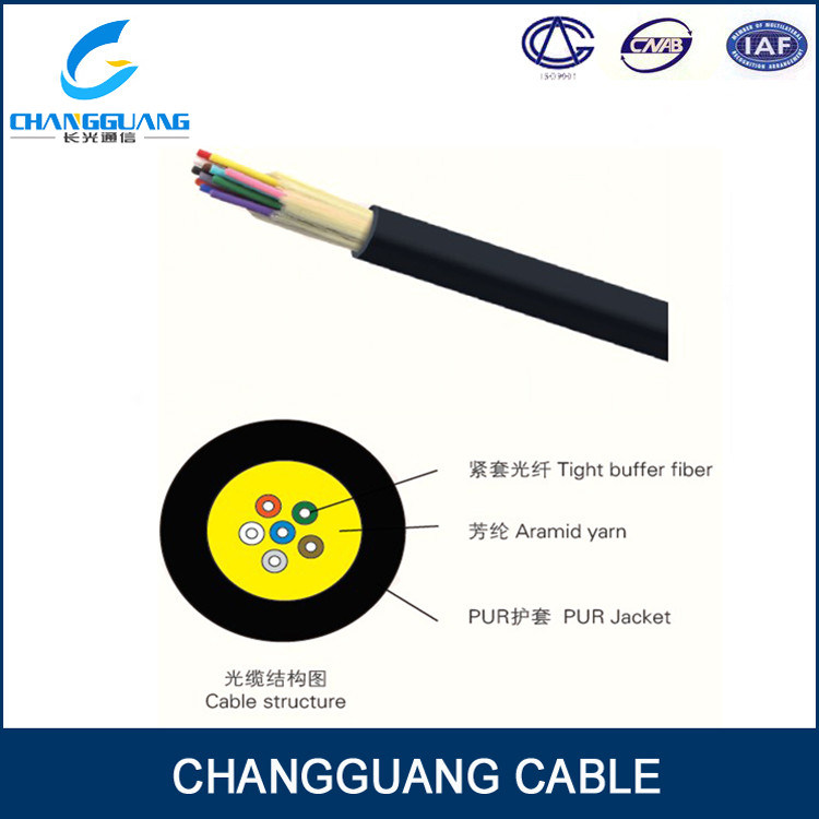 Field Mobile Gjpfju Single Mode Indoor Fiber Optic 4 Core Cable