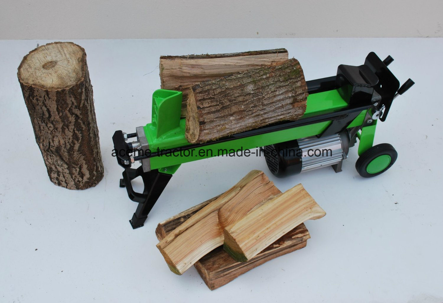 4t Two Handle Horizontal Electric Wood Splitter with 52cm Log Length