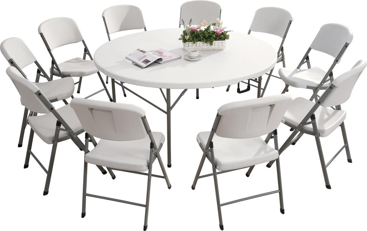 Fold In Half Round Table China Blow Molding Folding Table Folding Chair Plastic Folding