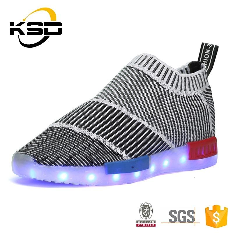 2016 Seasonable Unisex Luminous LED Shoes Sneakers with 7 LED Colors