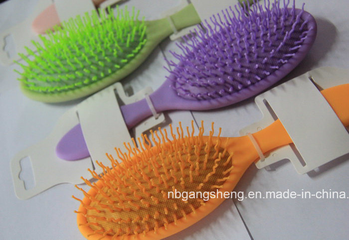 Message Hairbrush Colorful Hair Brush with Curving PP Pins