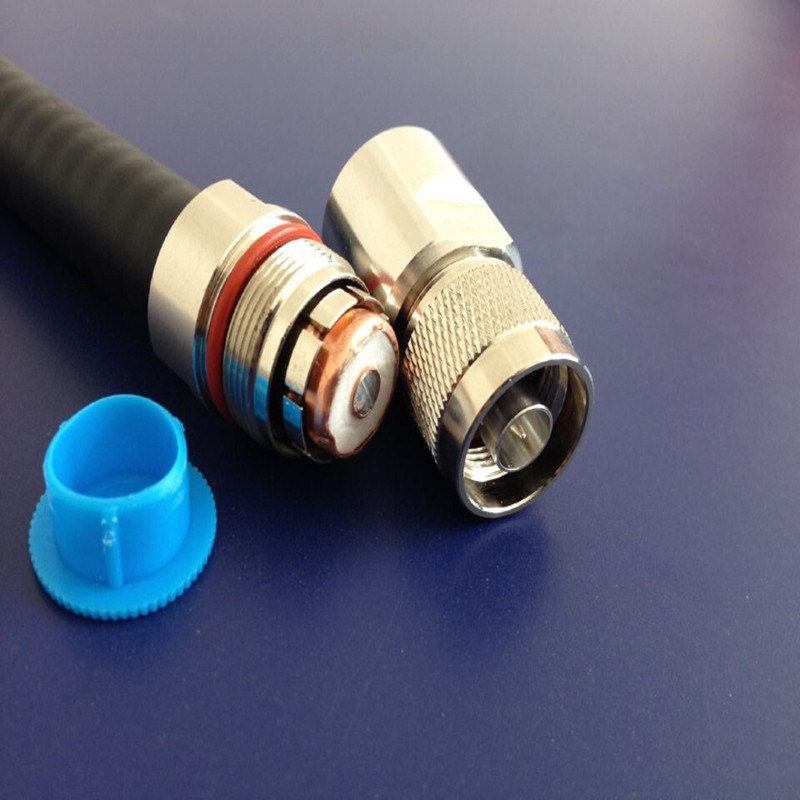 "N Male Connector for 1/2"" RF Feeder Cable"