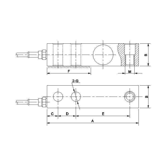 Single Ended Beam Load Cell for Electronic Scales (GX-1)