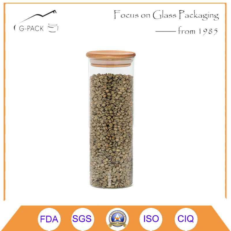 Borosilicate Glass Canisters with Bamboo Cap