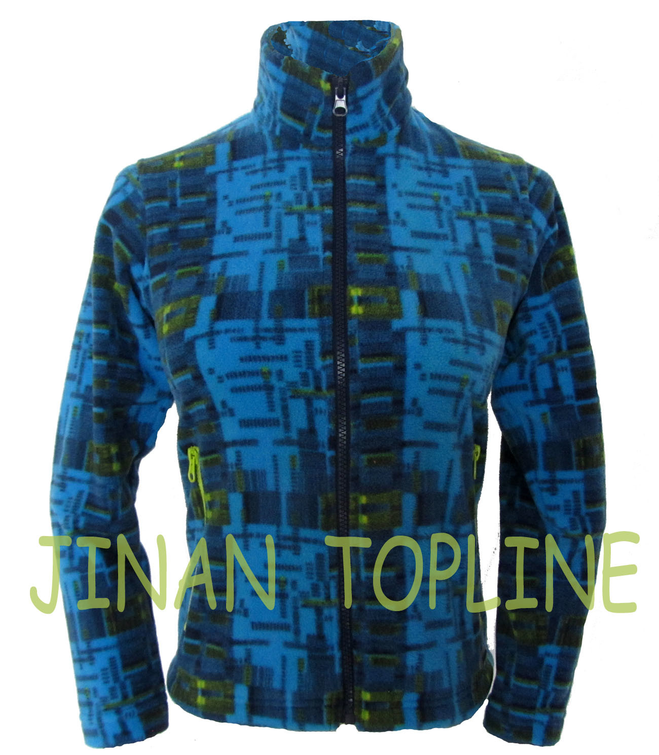 Long Sleeve Printed Microfleece Jacket