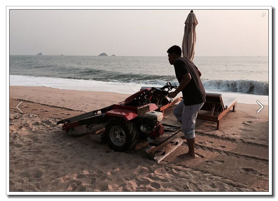 5.5HP Walk Behind Beach Cleaner for Sale