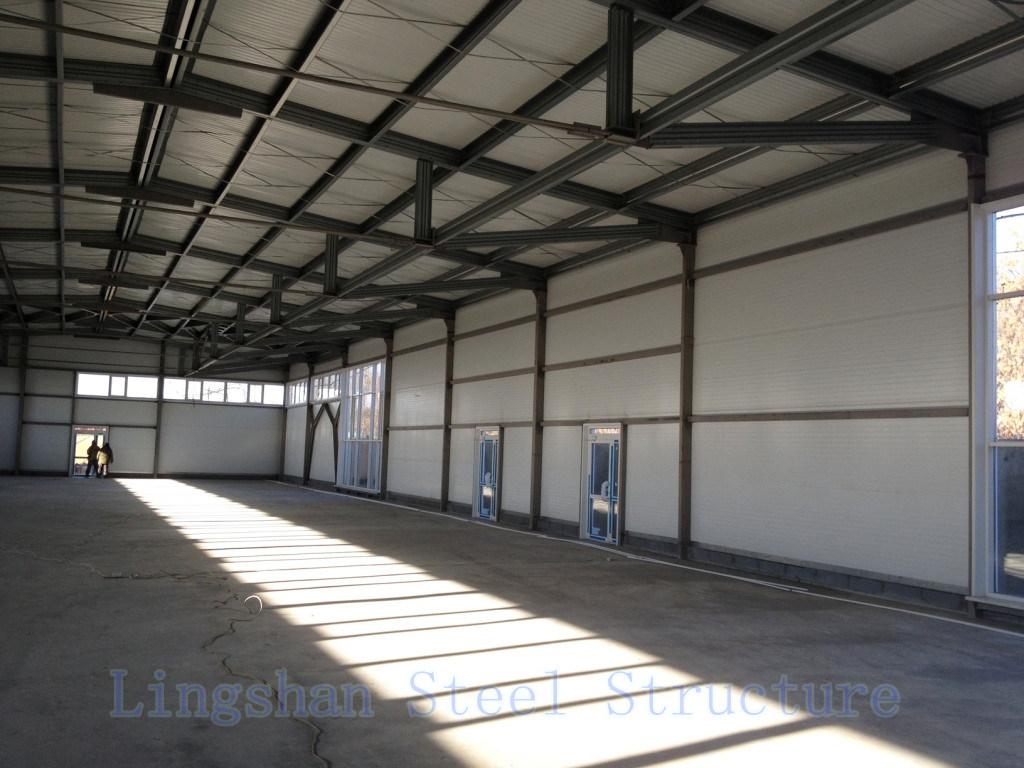 SGS Approved Lingshan Modern Light Steel Structure Workshop (L-S-002)