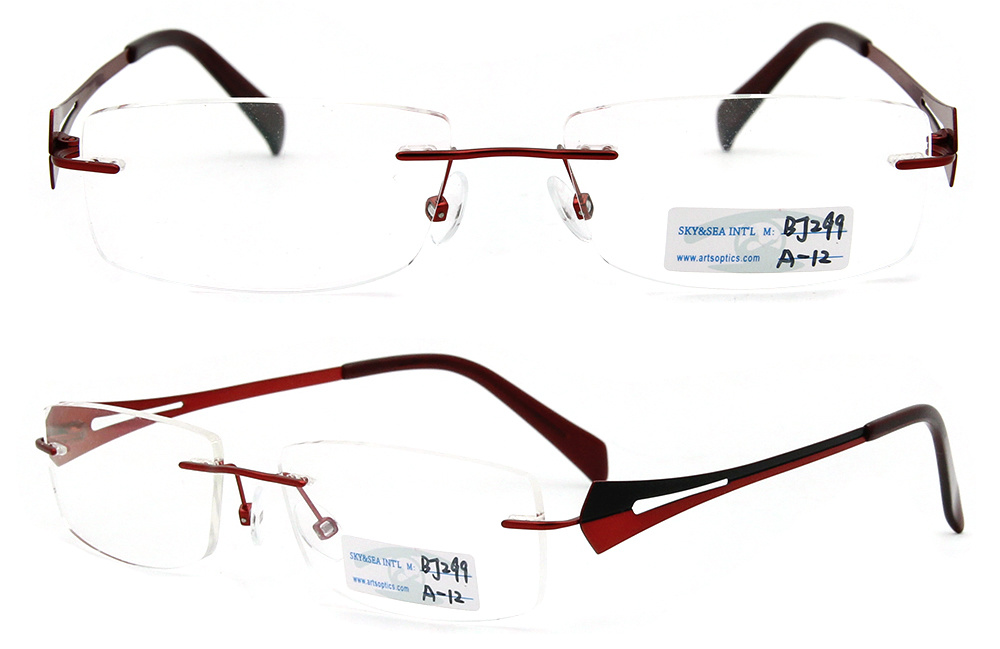 Titanium Eyeglass Frames China : China 2012 Rimless Metal Glasses Frame/ Titanium Eyeglass ...