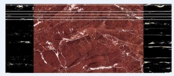 1000X2800mm Red Silk Screen Glazed Tile for Stair (10481)