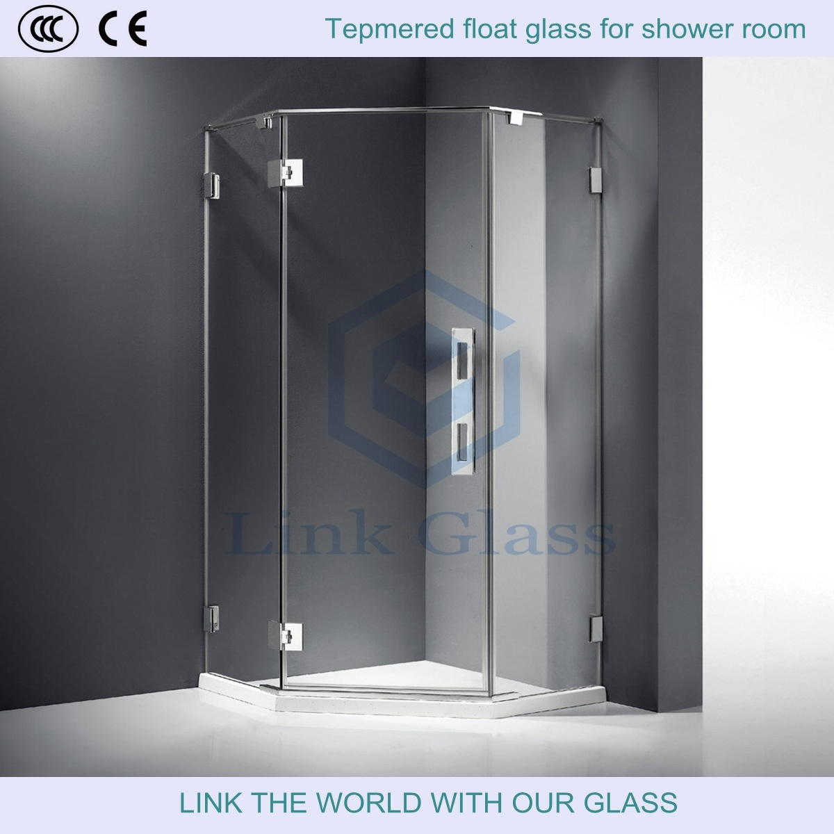 3-12mm Tempered Float Glass for Bathroom with Ce